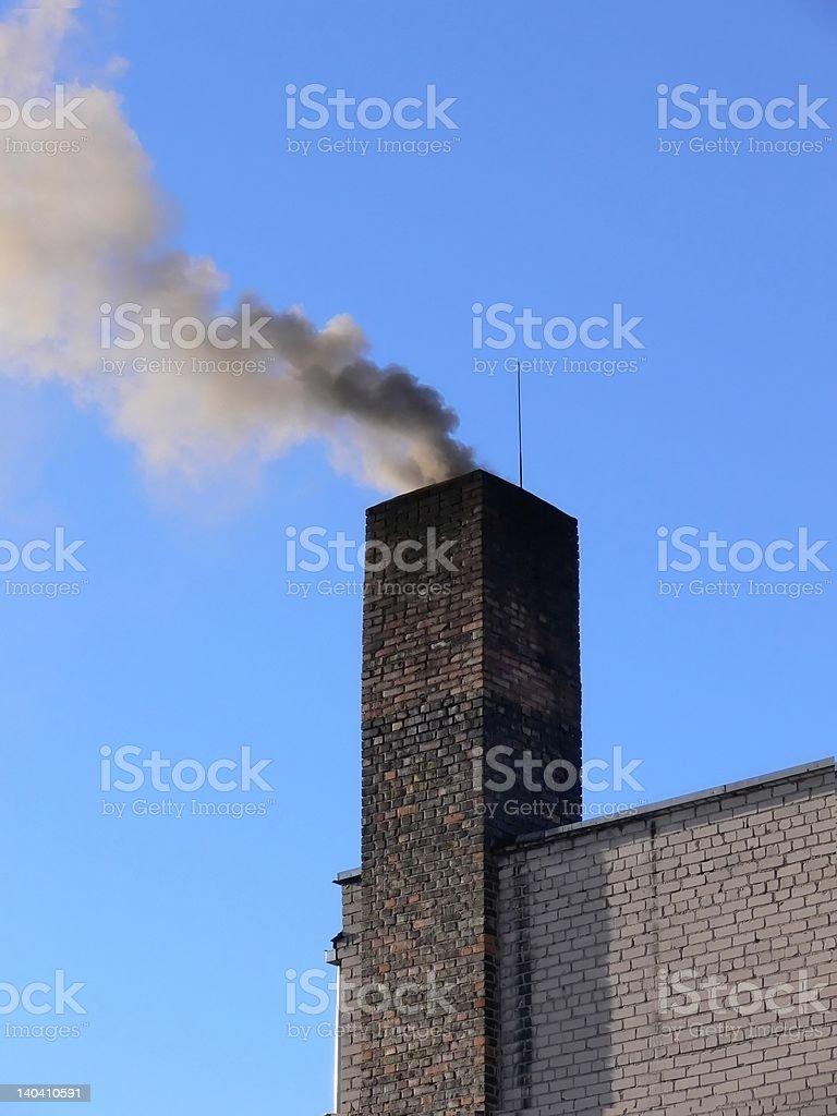 Chimney and smoke stock photo