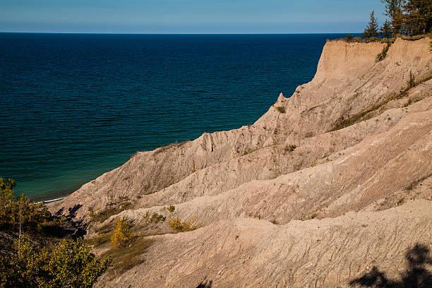 Chimney Bluffs Lake Ontario stock photo