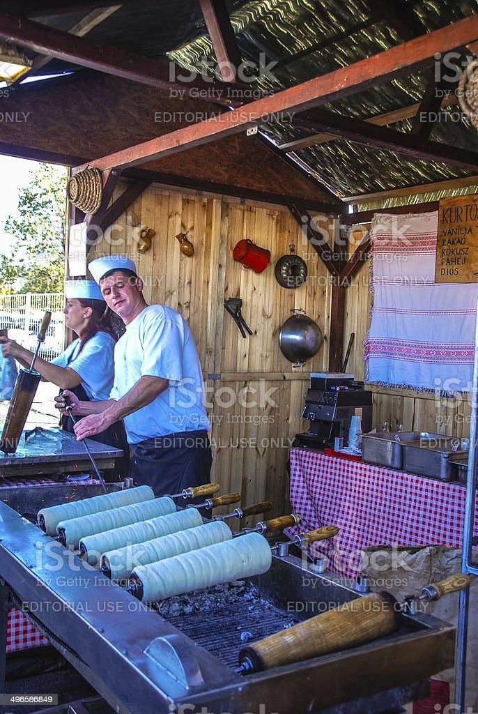 Kürtőskalács stock photo