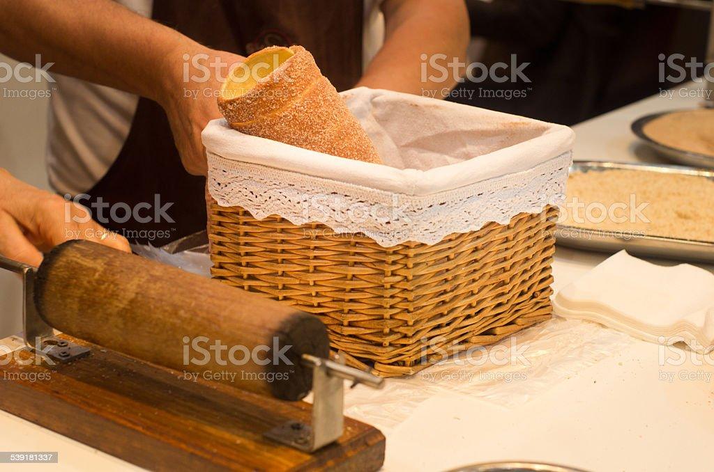 Chimney cake stock photo