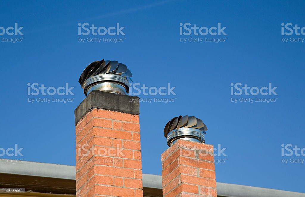 Chimney Caps stock photo
