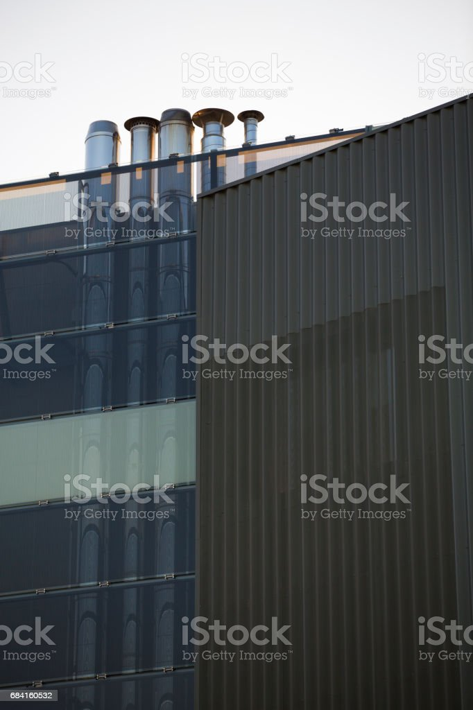 Chimney modern building royalty-free stock photo