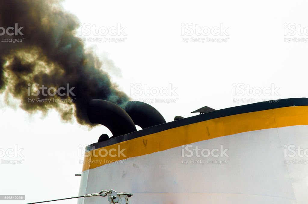 Chimney of a Boat royalty-free stock photo