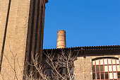 Chimney of old factory. Detail