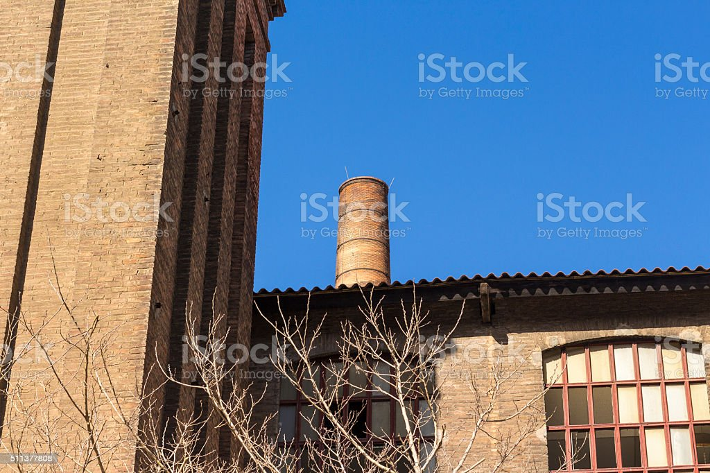 Chimney of old factory stock photo