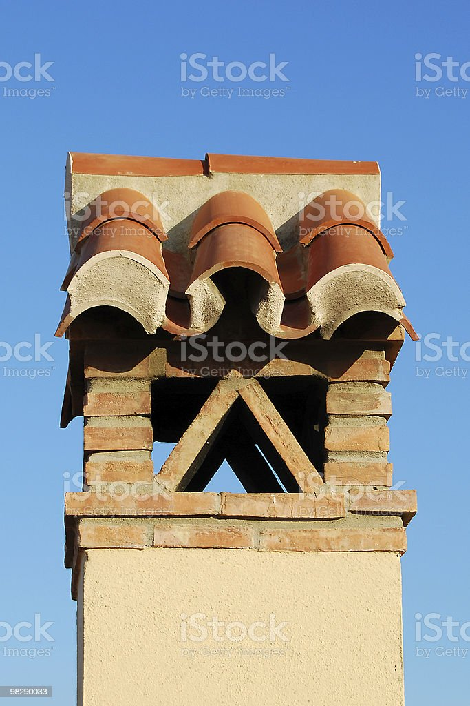 Chimney on Andalucian House, Spain royalty-free stock photo