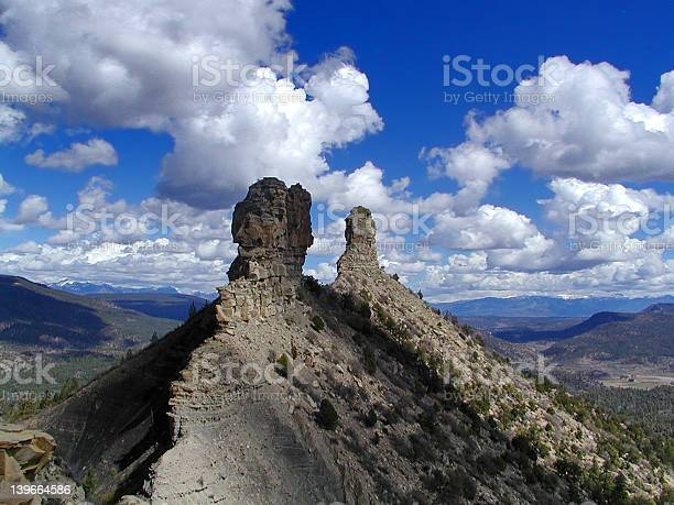 Chimney Rock Archaeological Area Stock Photo - Download Image Now