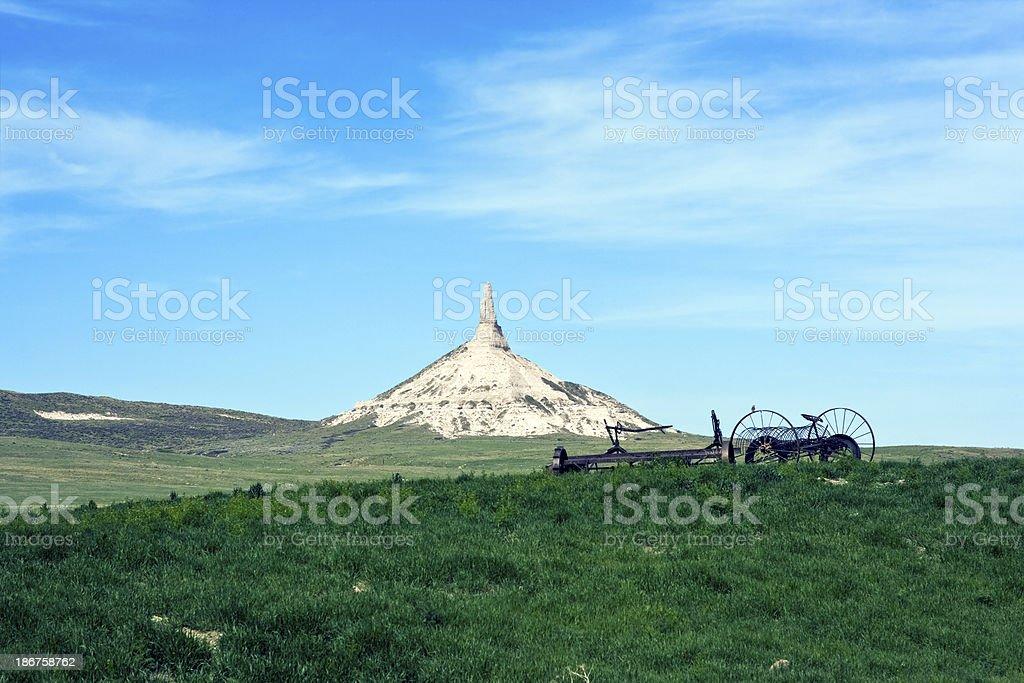 Chimney Rock in Nebraska stock photo