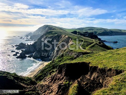View of Chimney Rock along the coast at Point Reyes National Seashore. Photo taken during trip to Point Reyes National Park in the spring of 2019.