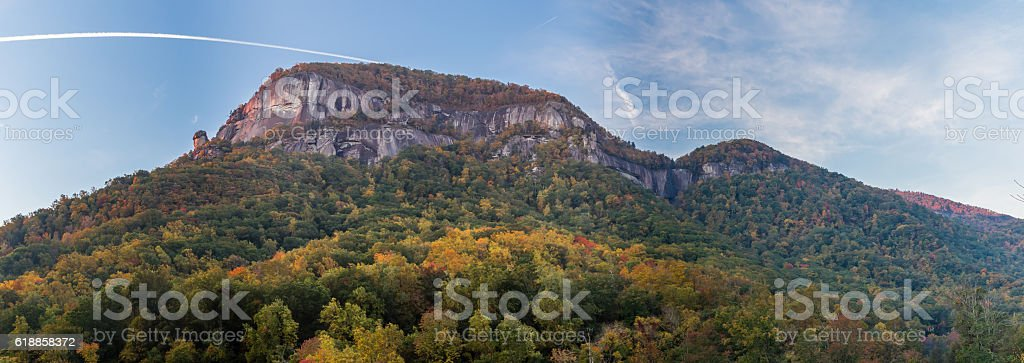 Chimney Rock Mountain stock photo