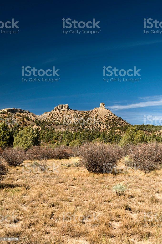 Chimney Rock National Monument stock photo
