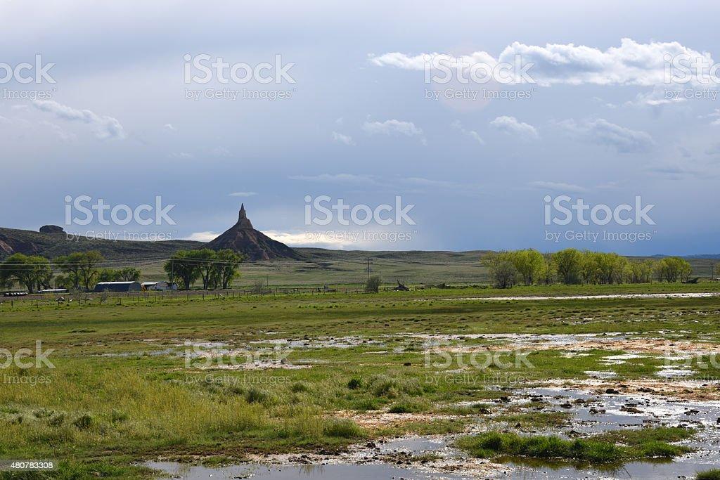Chimney Rock, Nebraska stock photo