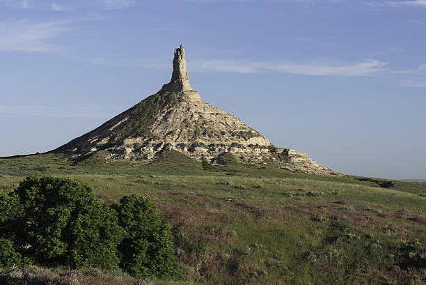 Chimney Rock Nebraska stock photo