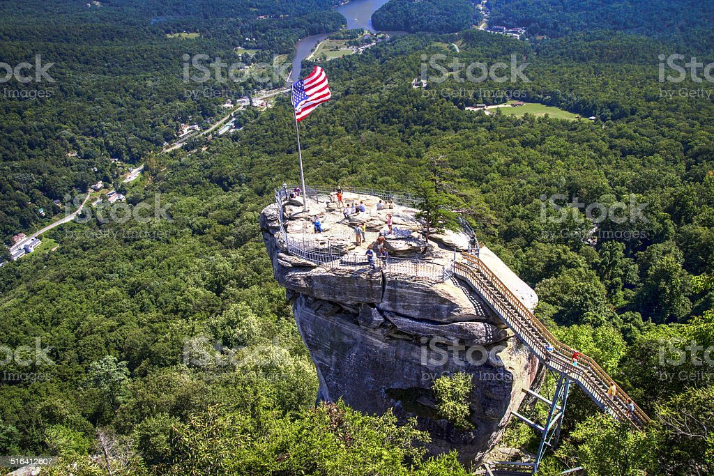 Chimney Rock State Park In The North Carolina Mountains stock photo