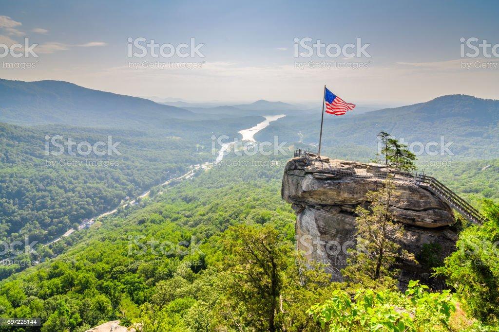 Chimney Rock State Park stock photo