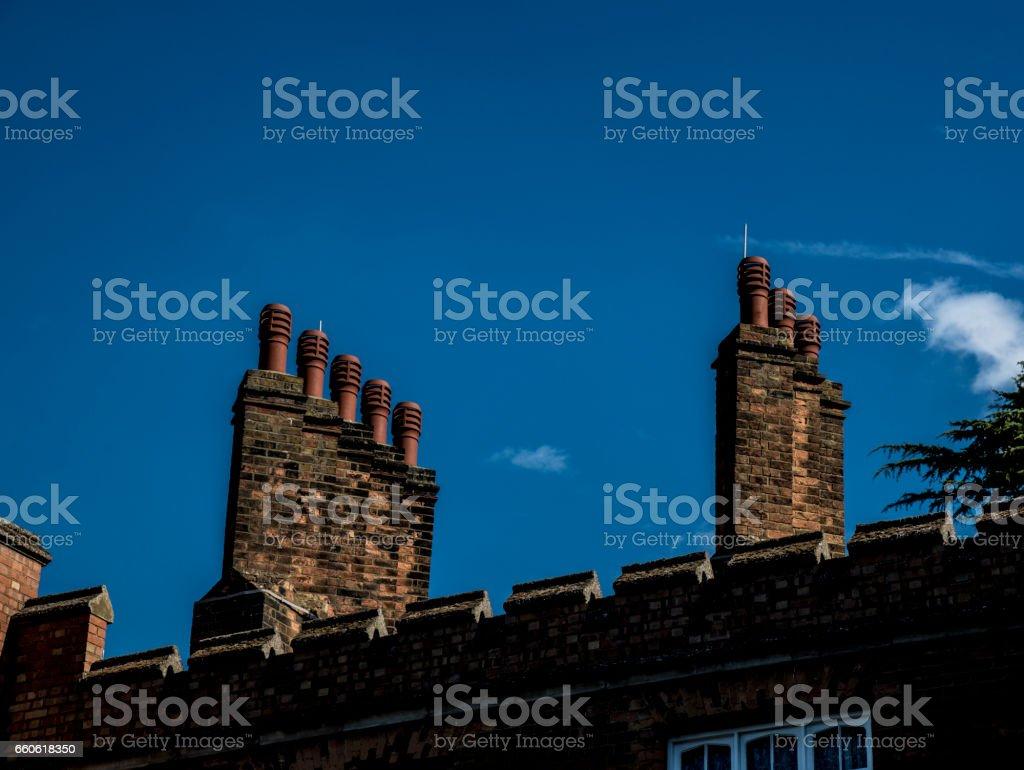 2 Chimney Stacks royalty-free stock photo