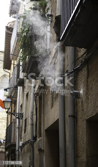 istock Chimney steam air 1127381028