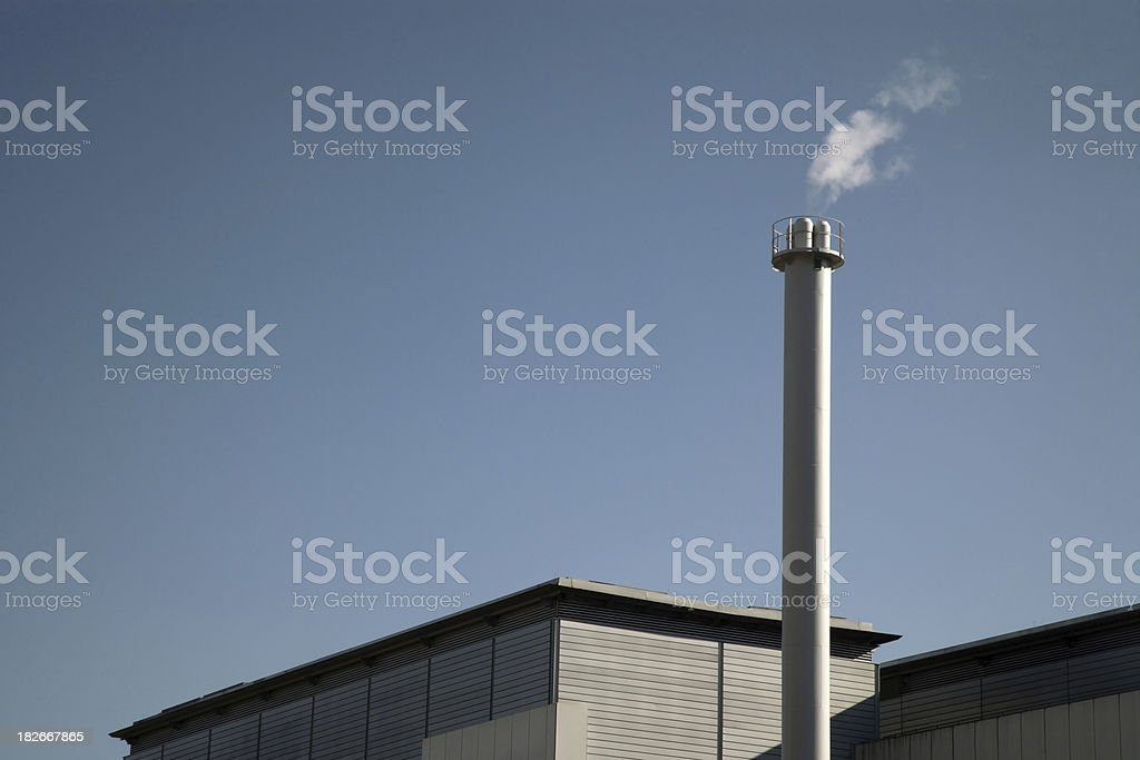 chimney steel blue sky royalty-free stock photo