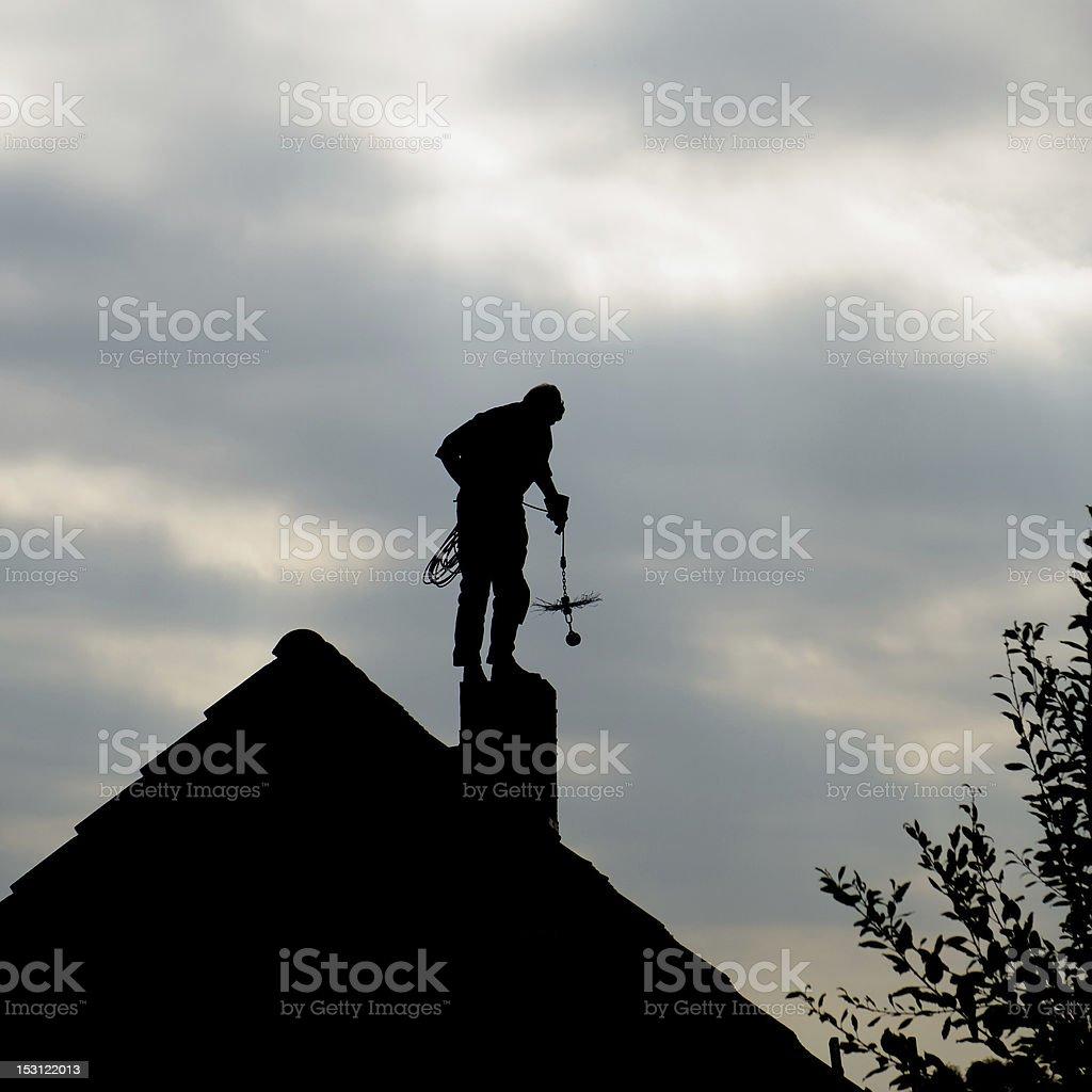Chimney sweep stock photo