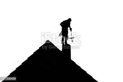 istock Chimney Sweep silhouette 457330433