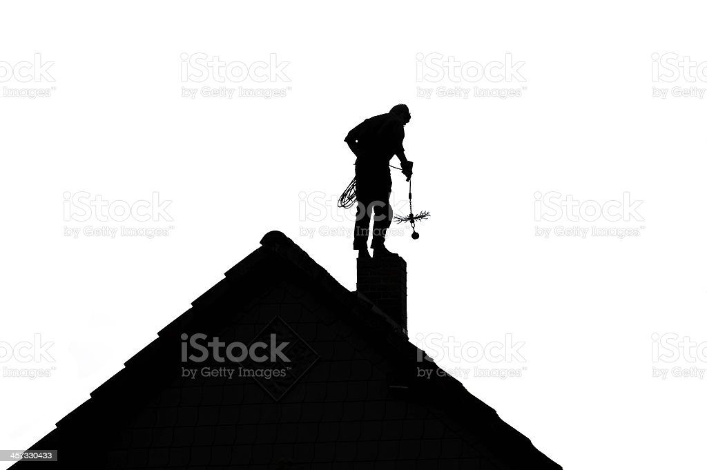 Chimney Sweep silhouette stock photo