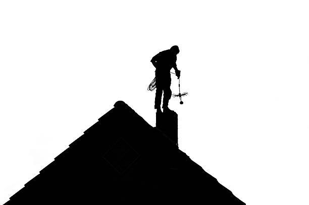 Schornsteinfeger silhouette – Foto