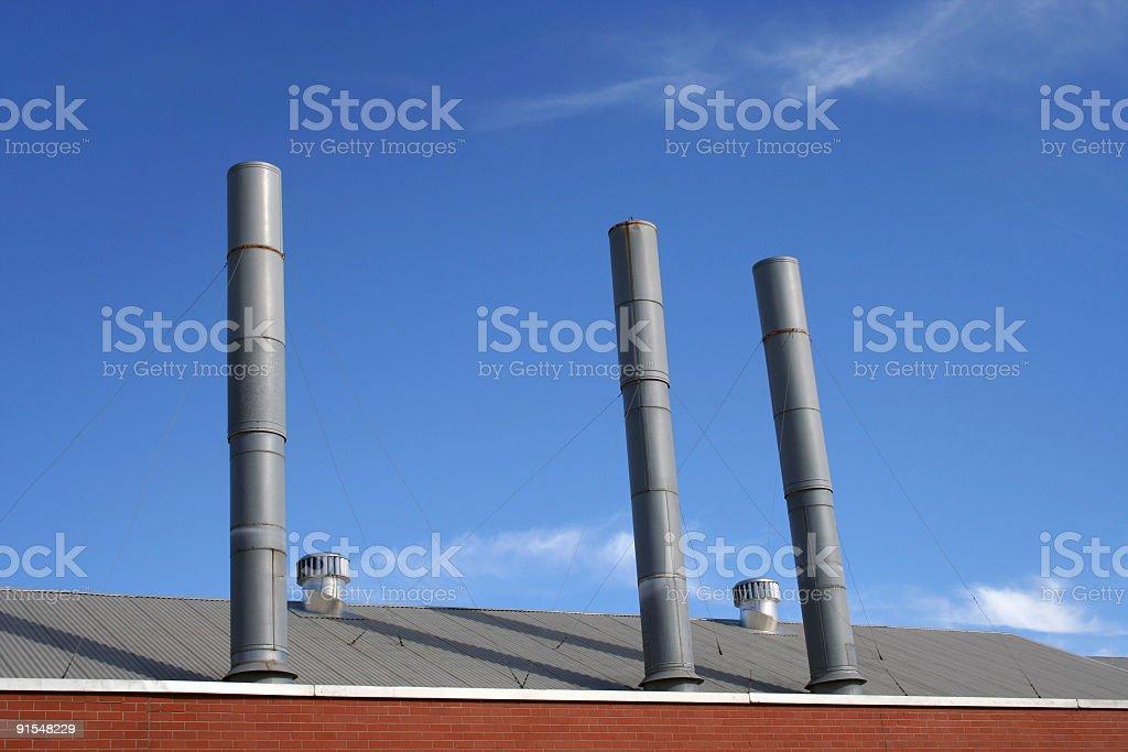 Chimney trio royalty-free stock photo