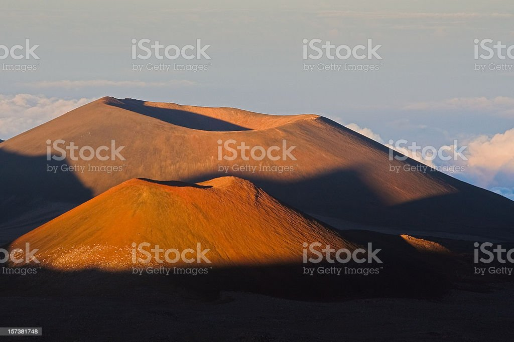 Chimneys of the earth, Hawaii stock photo