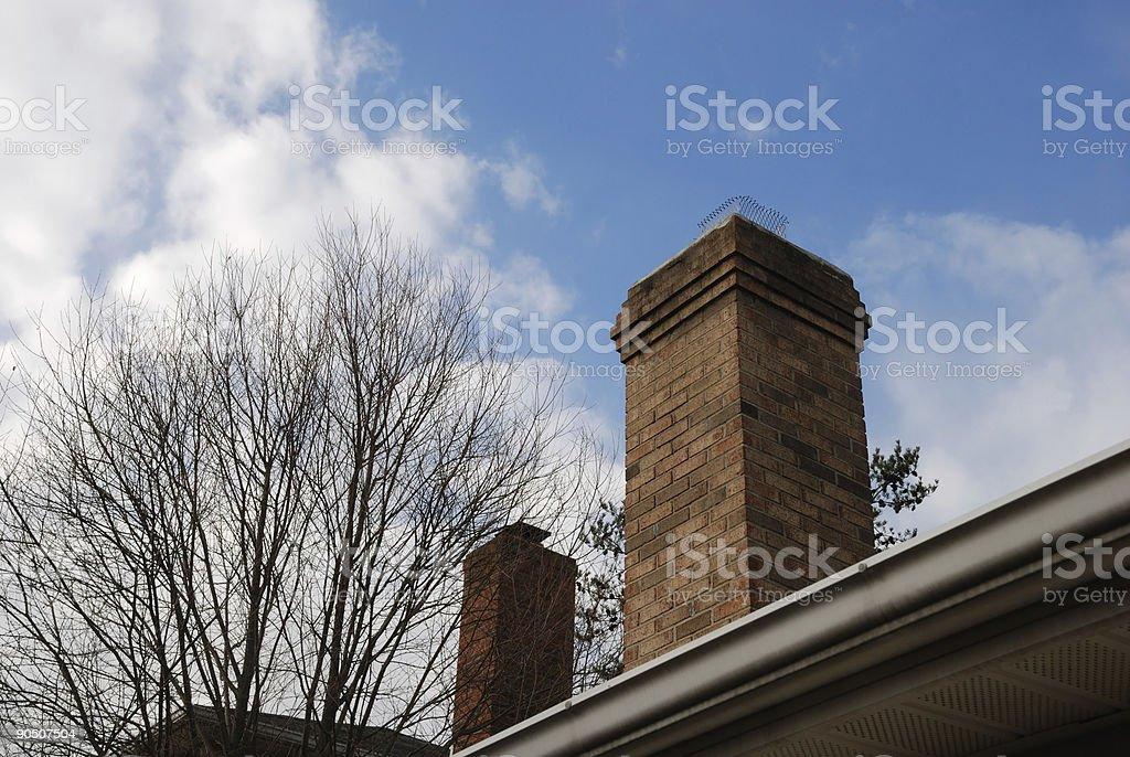 Chimneys stock photo