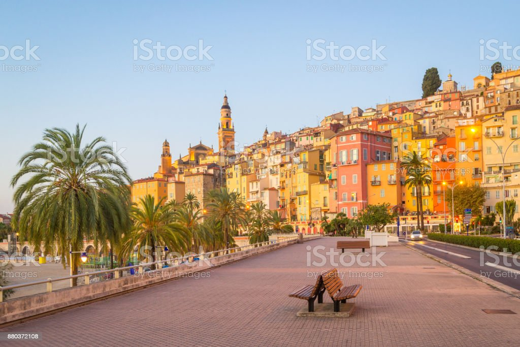 Menton - France stock photo