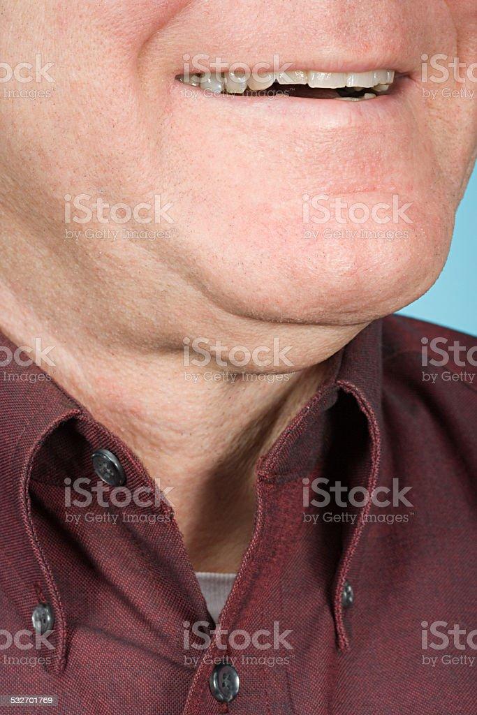 Chin of a man stock photo