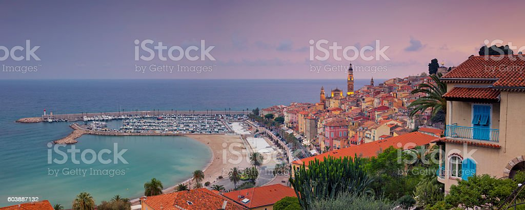 Menton. stock photo
