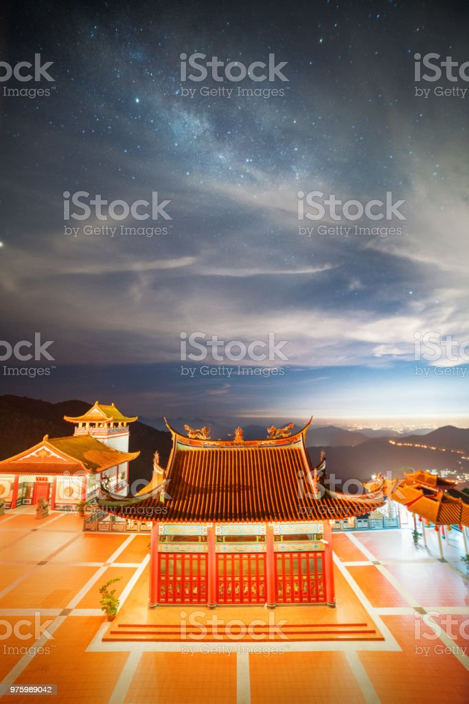 Chin Swee temple at Genting Highland stock photo