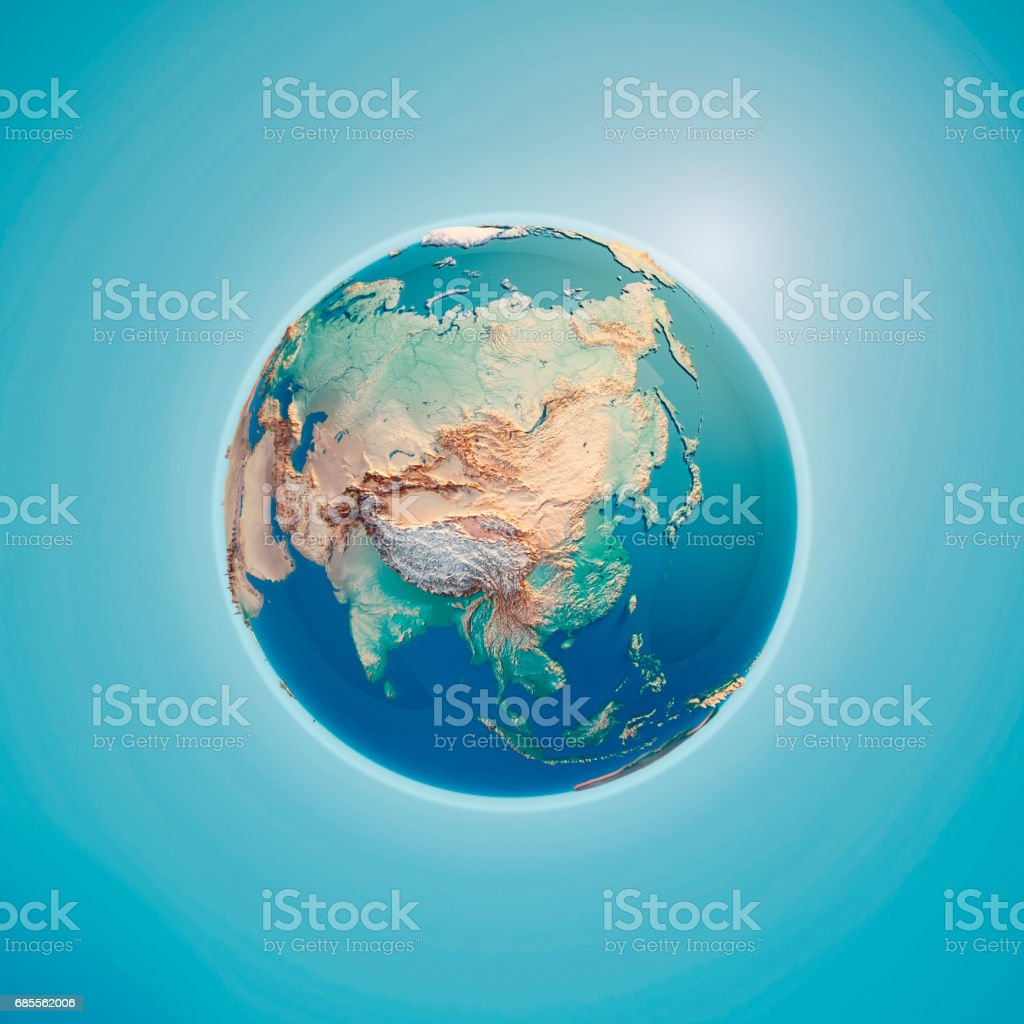China 3D Render Planet Earth stock photo