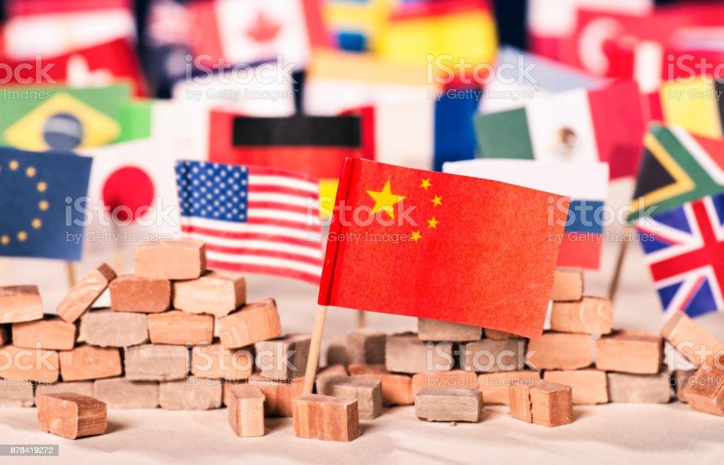 China als wirtschaftliche und politische Macht stock photo