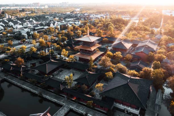 China ancient architecture stock photo