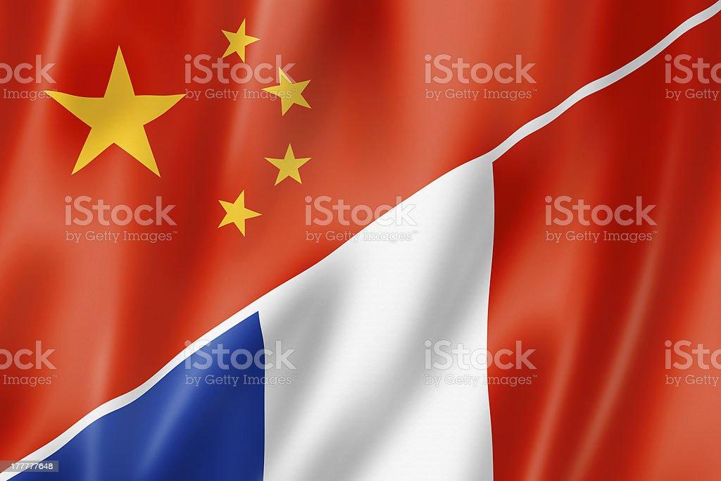 China and France flag royalty-free stock photo