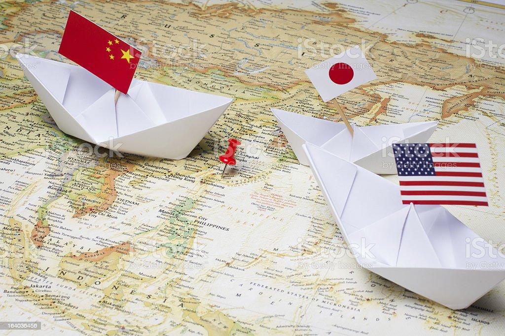 China and Japan stock photo