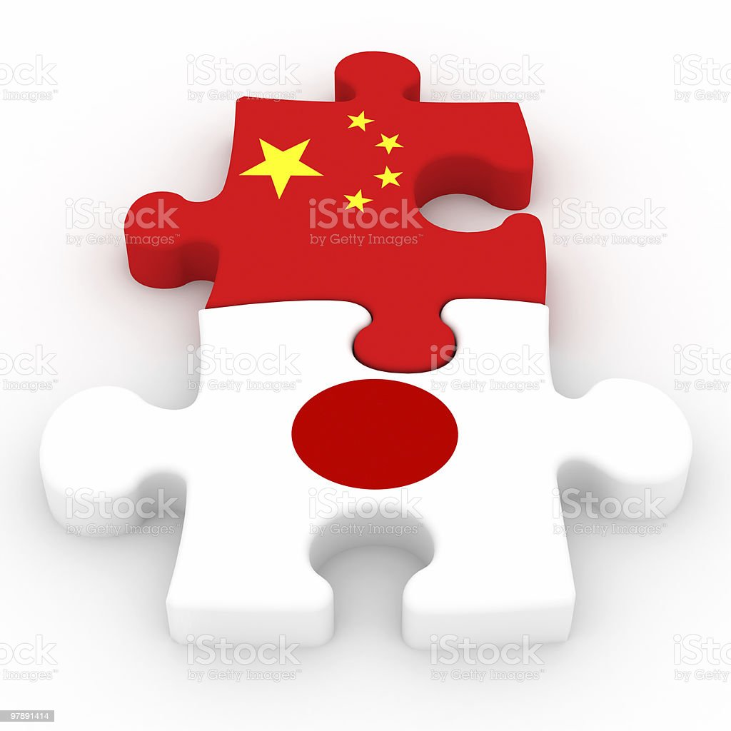 China and Japan Relations royalty-free stock photo