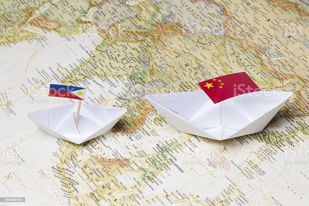 China and Philippines stock photo