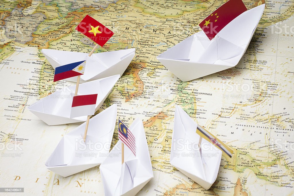 China and Southeast Asian countries stock photo