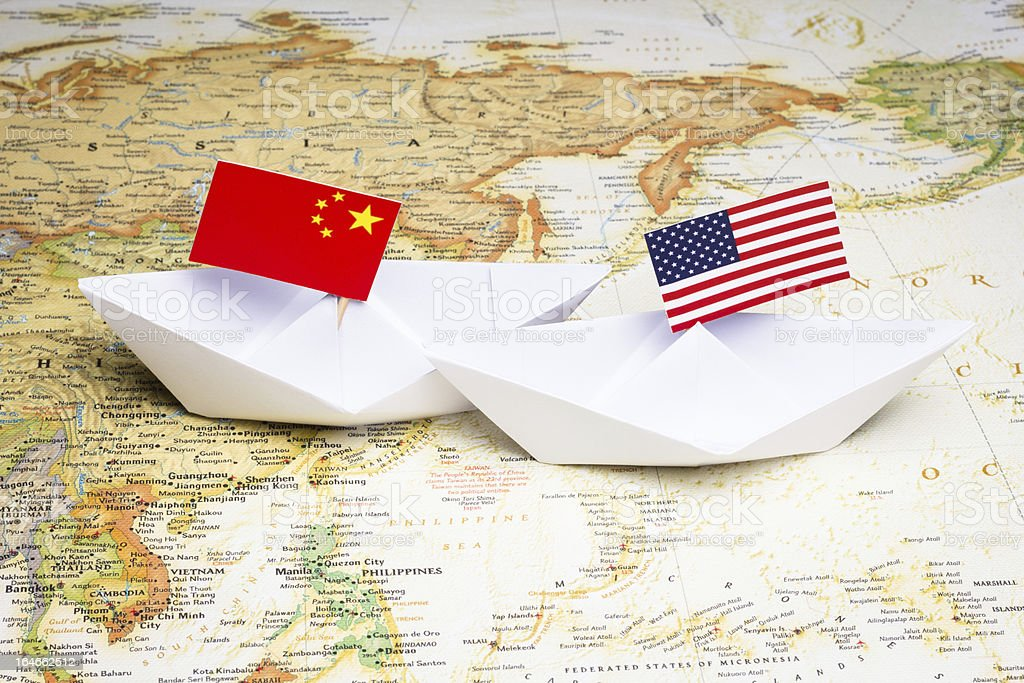 China and USA stock photo