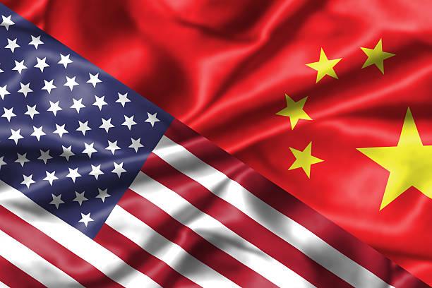 China and USA relationship. stock photo