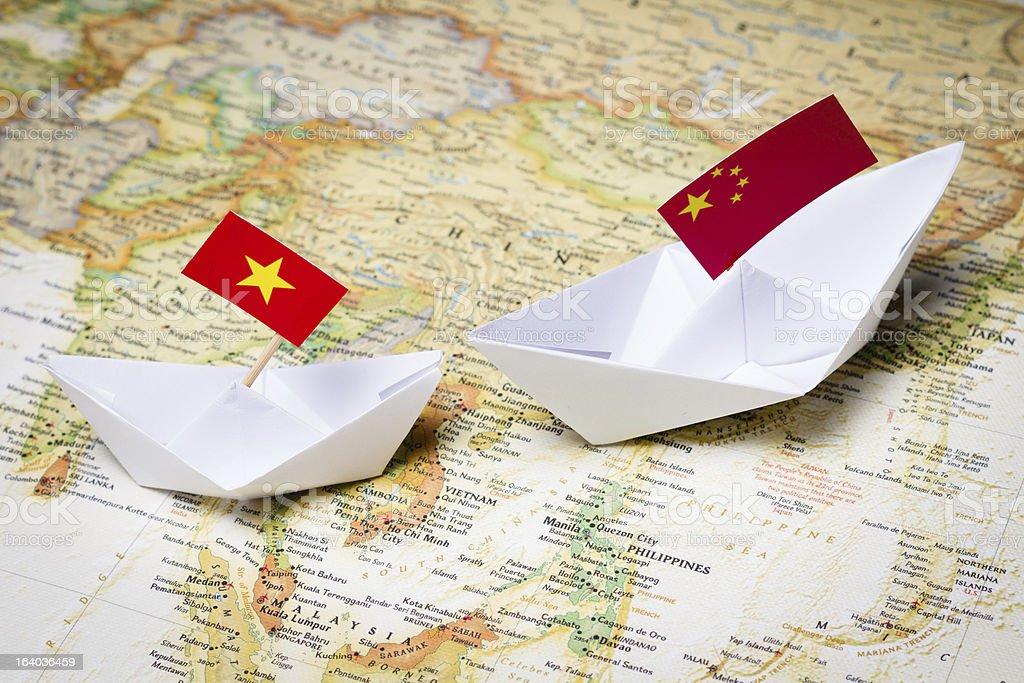 China and Vietnam stock photo