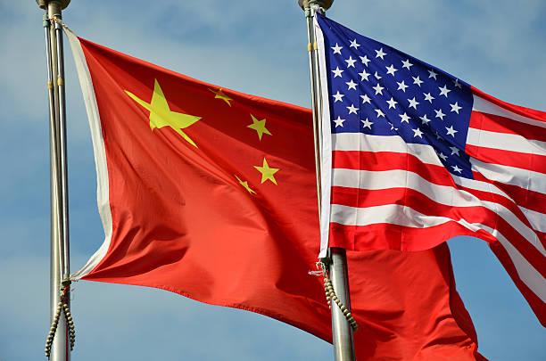 China behind America stock photo