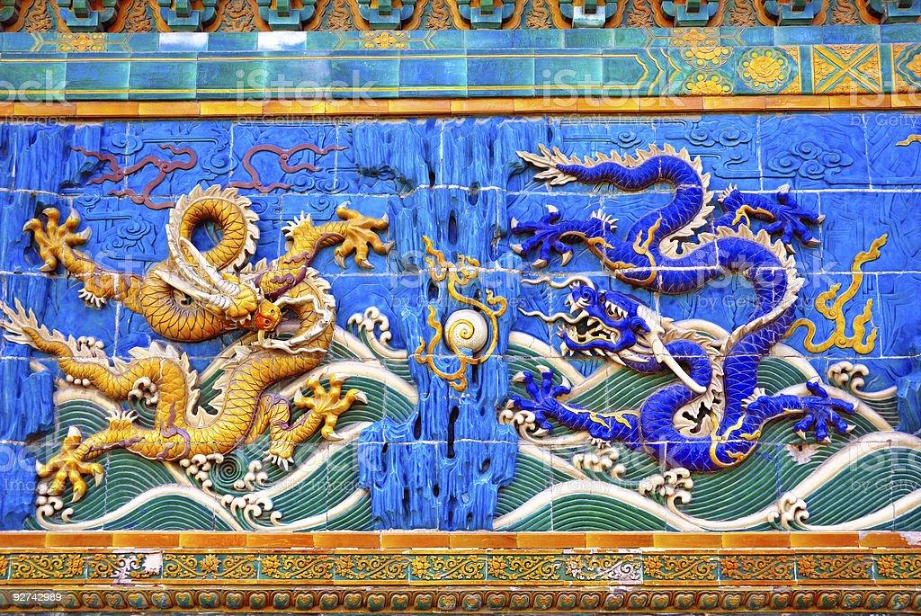 imperial China Beijing Beihai park Dragon Lizenzfreies stock-foto