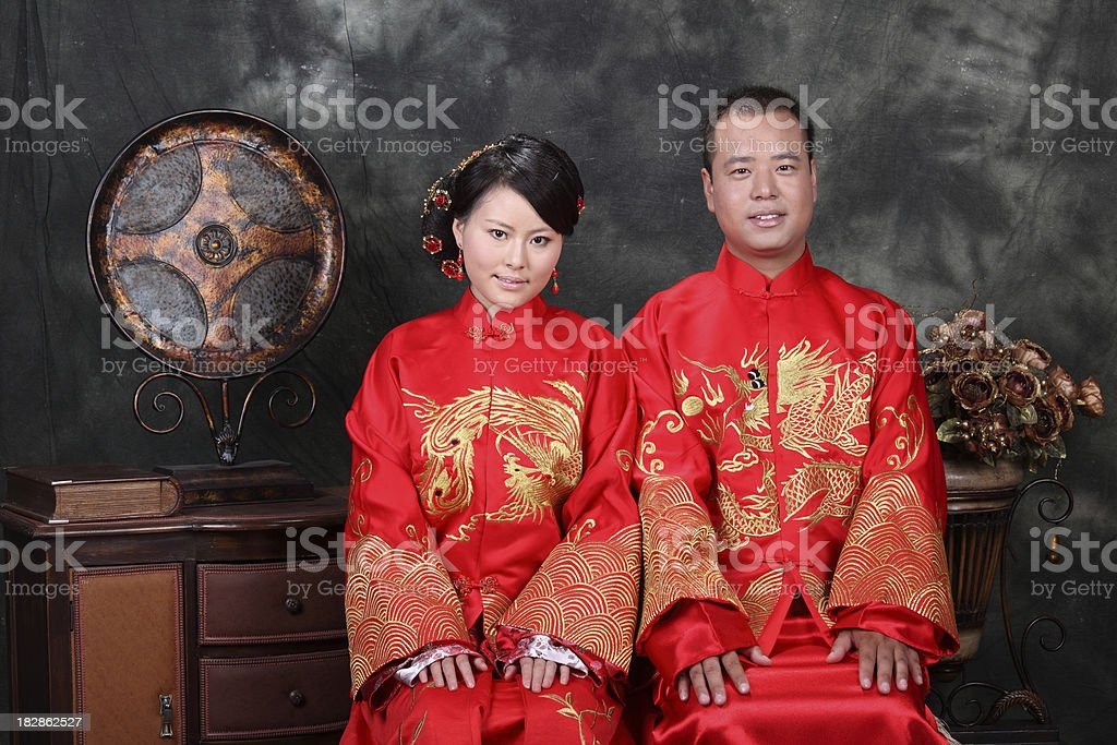 China Bride and Groom stock photo