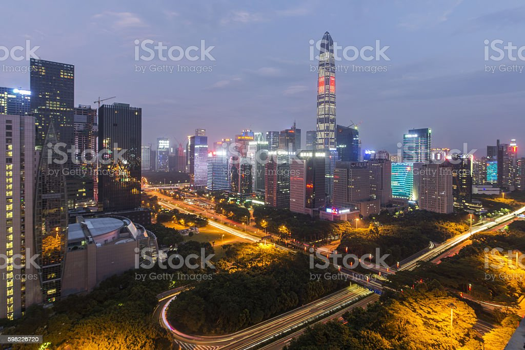 china Building business center in Shenzhen foto royalty-free