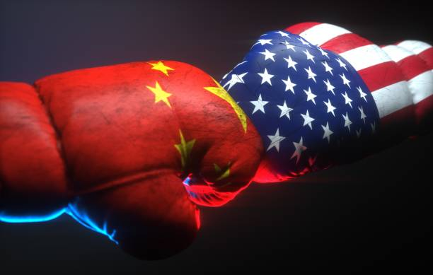 USA China Conflict stock photo