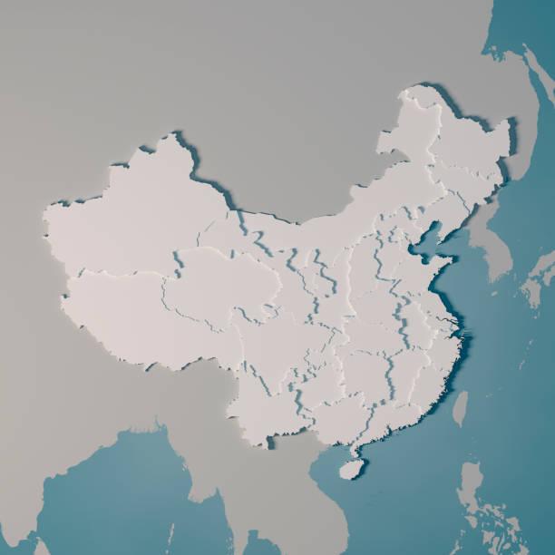 China Landkarte Verwaltungsstruktur 3D Render – Foto